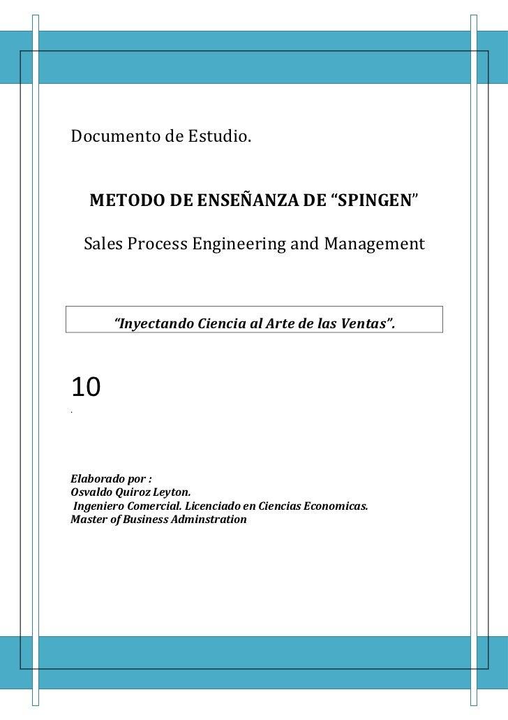 Metodo de consultoria en spingen para sfa oql