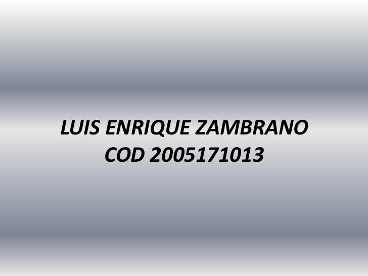 LUIS ENRIQUE ZAMBRANOCOD 2005171013<br />