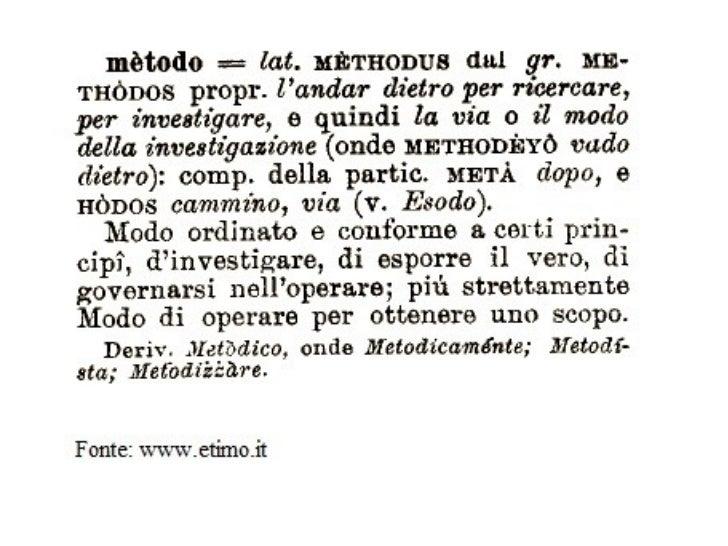 Metodo etimologia