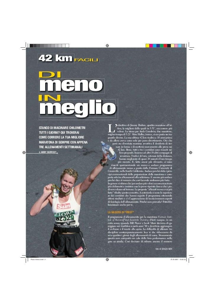 Metodo first 42_km