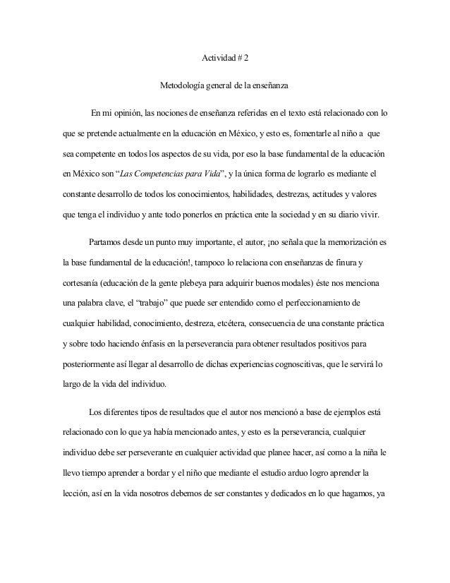 ensenanza general: