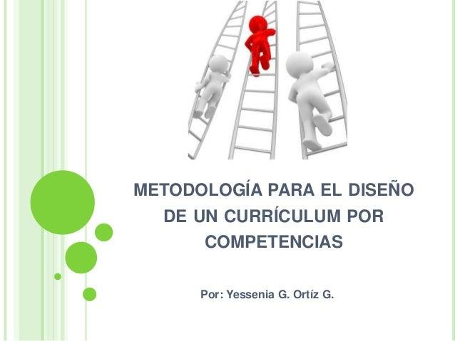 Metodología para el Diseño de un Currículum por Competencias