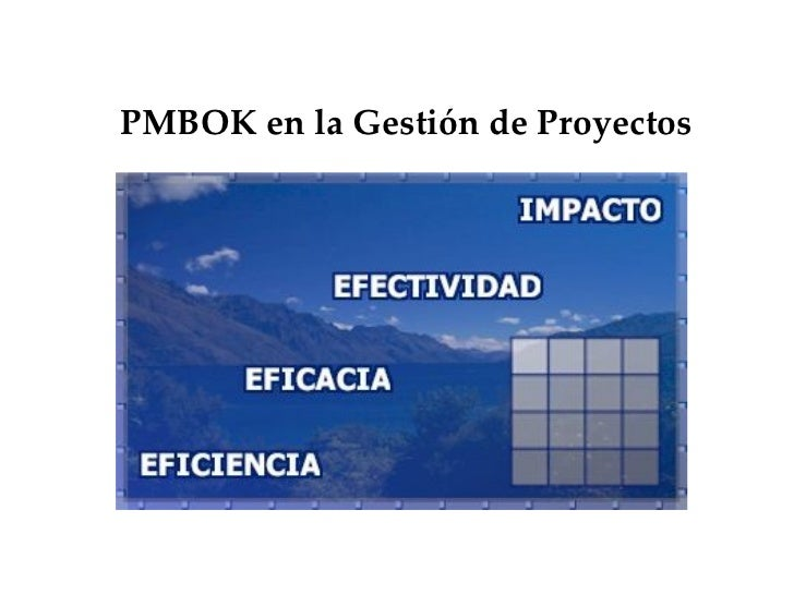 PMBOK en la Gestión de Proyectos