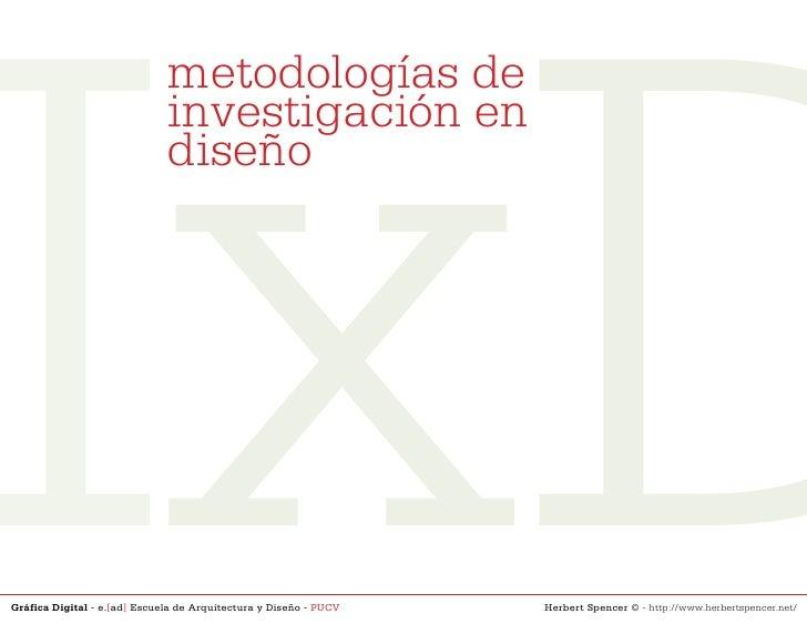 IxD                               metodologías de                               investigación en                          ...