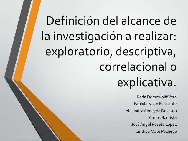 definicion investigacion descriptiva: