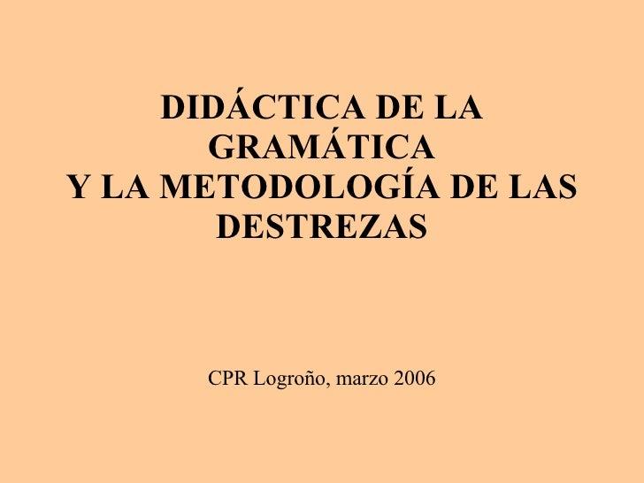 Metodologia De La Gramatica