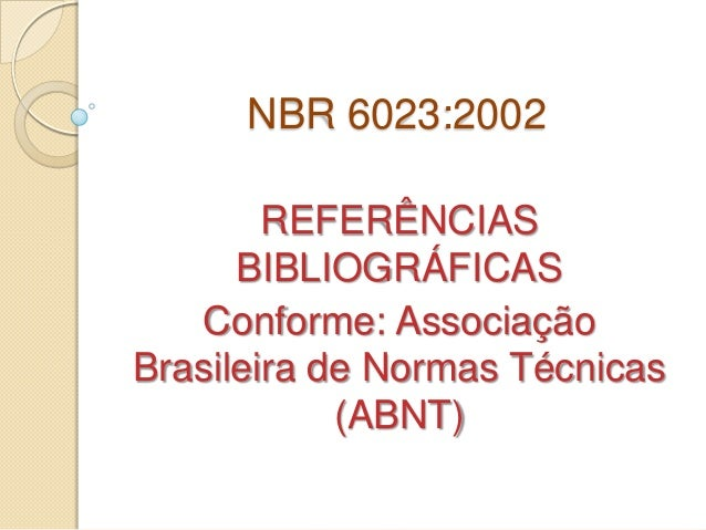 Metodologia cientifica nbr 6023