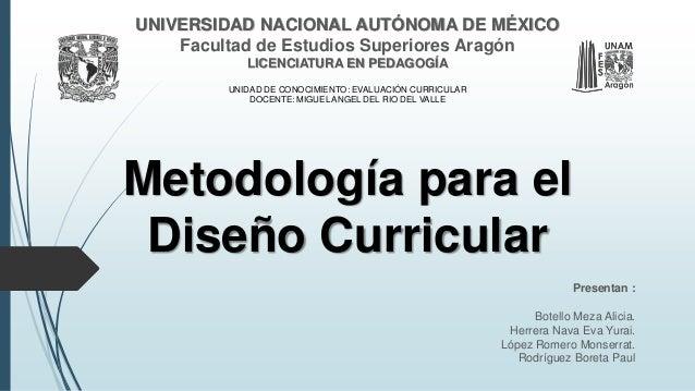 UNIVERSIDAD NACIONAL AUTÓNOMA DE MÉXICO  Facultad de Estudios Superiores Aragón  LICENCIATURA EN PEDAGOGÍA  UNIDAD DE CONO...