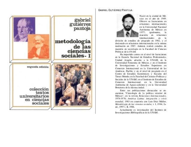 GABRIEL GUTIÉRREZ PANTOJA Nació en la ciudad de México en el año de 1949. Obtuvo su licenciatura en relaciones internacion...