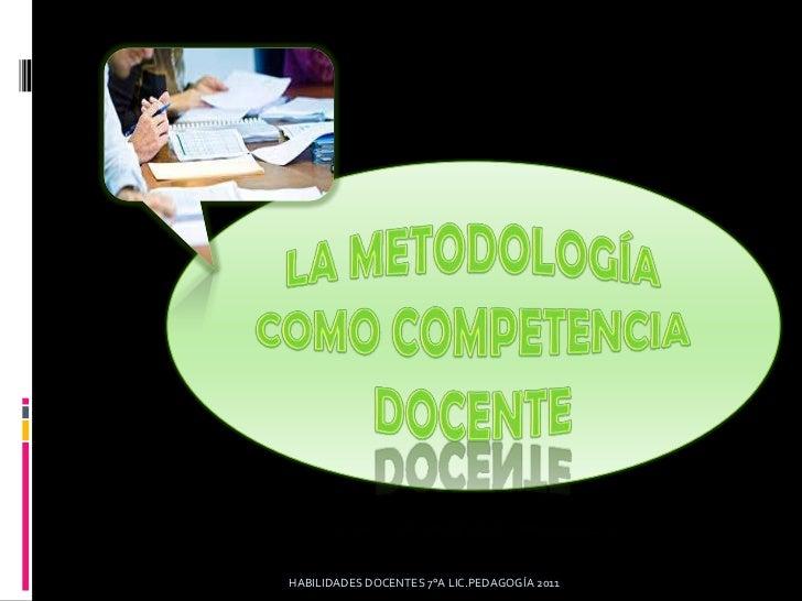 Metodologia docente
