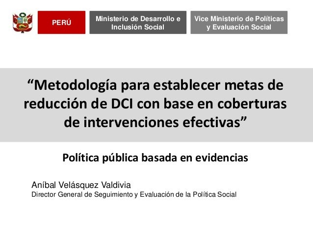 Metodologia para establecer metas dci con base en evidencias 2013