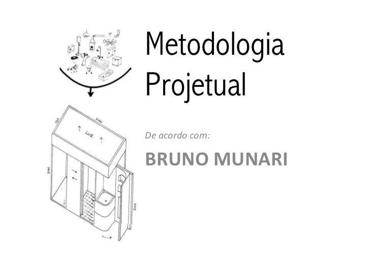 MetodologiaProjetualDe acordo com:BRUNO MUNARI