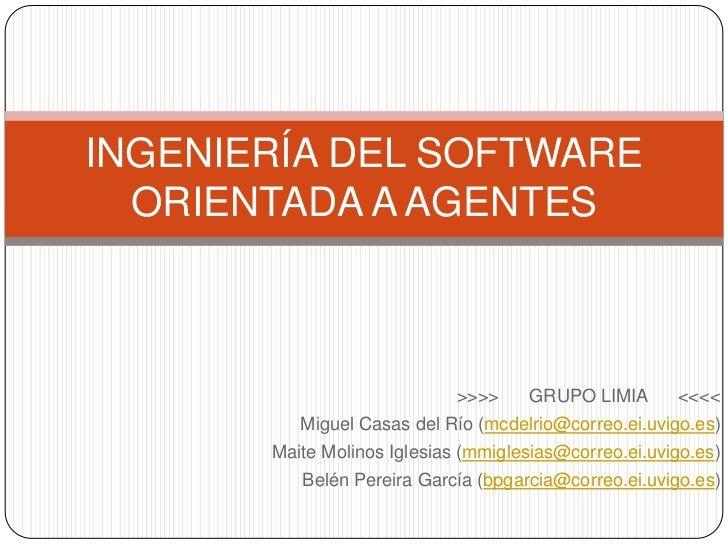 Ingeniería del software orientada a agentes