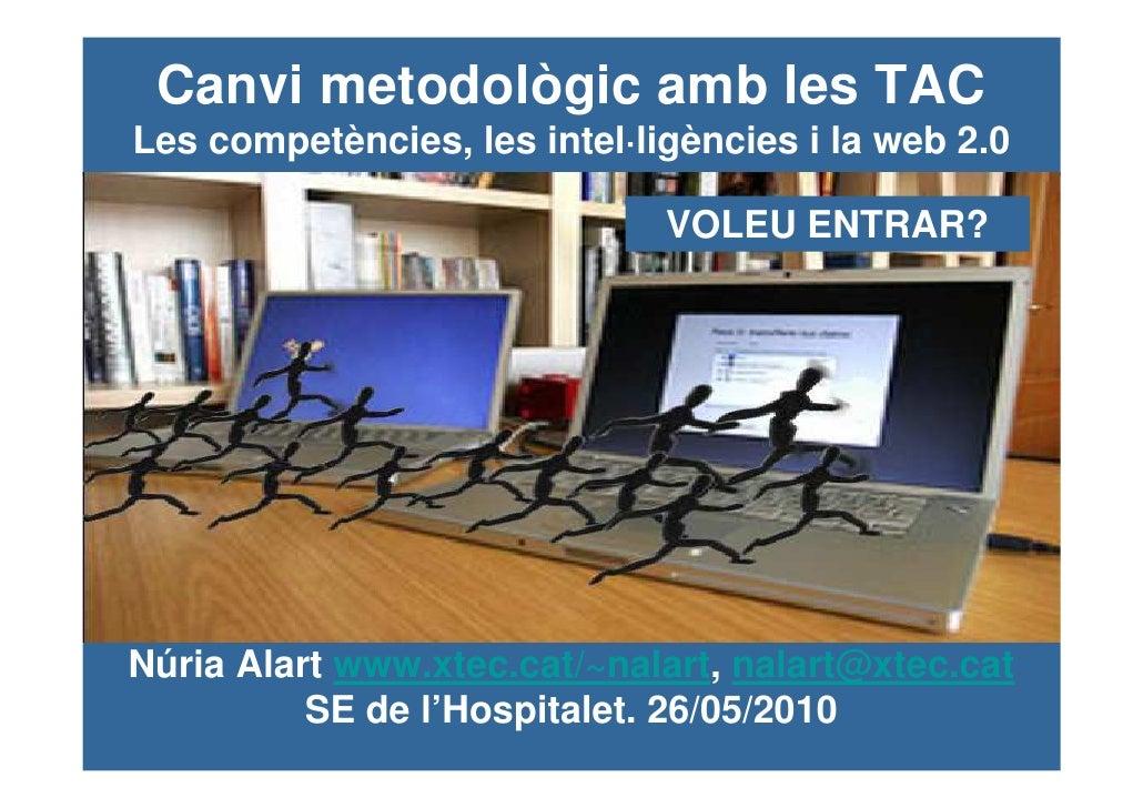 Canvi metodològic amb les TACLes competències, les intel·ligències i la web 2.0                              VOLEU ENTRAR?...