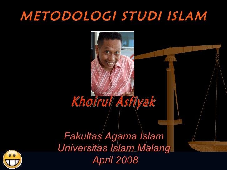 Metodologi studiislam2010