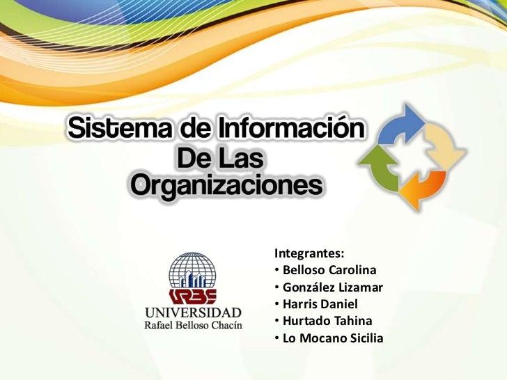 Sistema de Informacion de Las Organizaciones