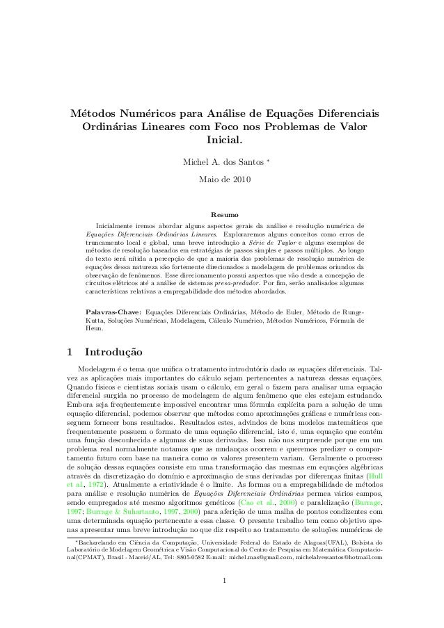 Numerical Methods for Solving Linear Ordinary Differential Equations
