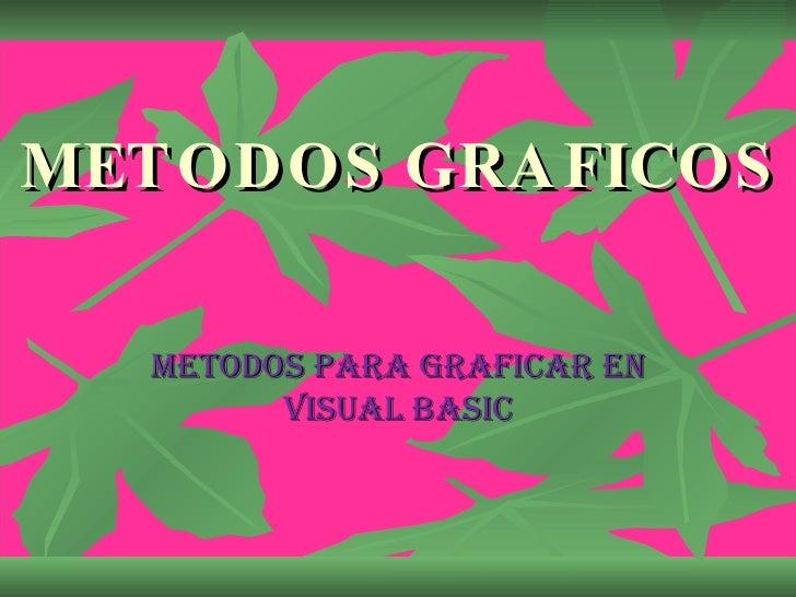 METODOS GRAFICOS METODOS PARA GRAFICAR EN VISUAL BASIC