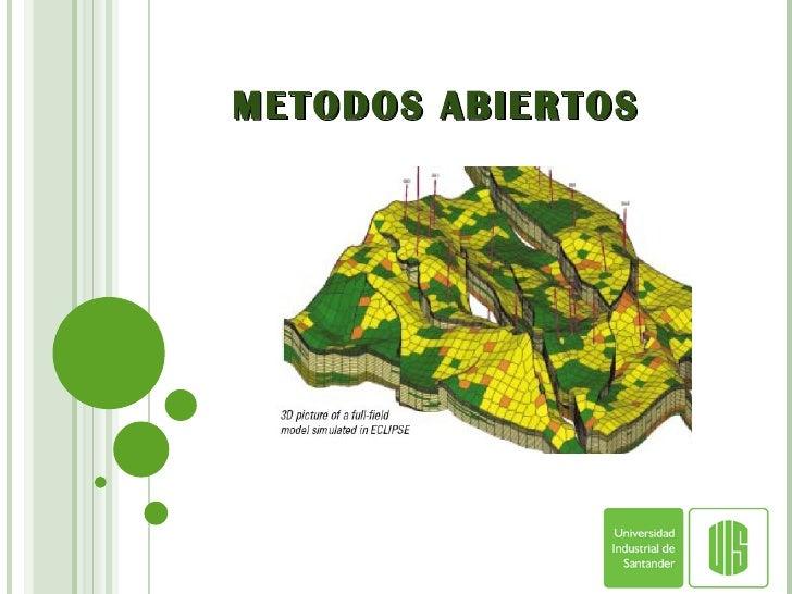 METODOS ABIERTOS