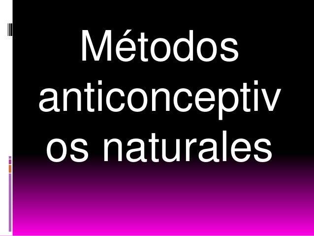 Métodosanticonceptivos naturales