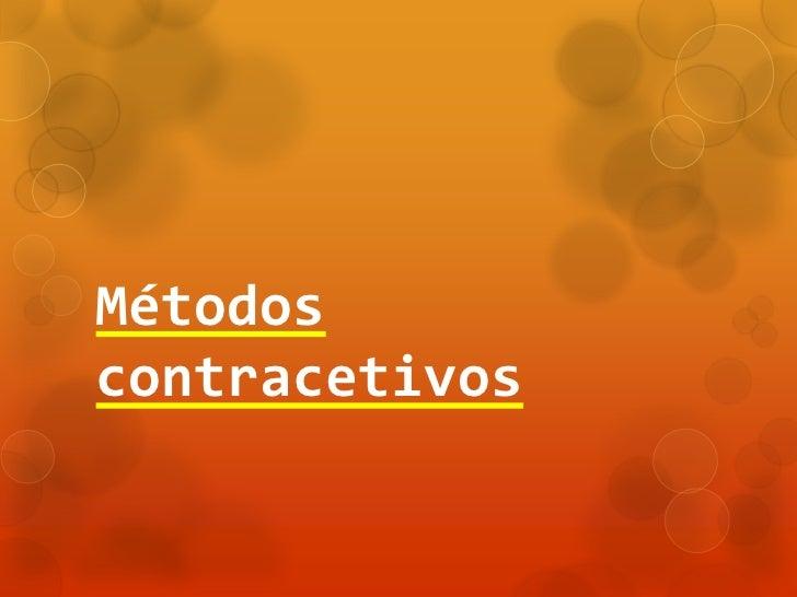 Métodoscontracetivos