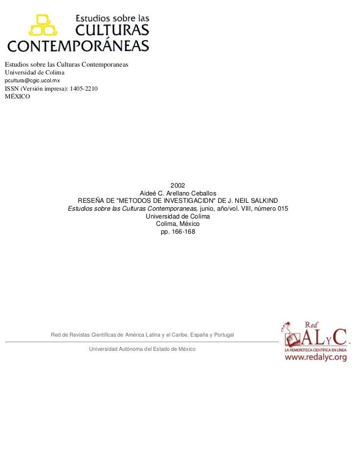 Estudios sobre las Culturas ContemporaneasUniversidad de Colimapcultura@cgic.ucol.mxISSN (Versión impresa): 1405-2210MÉXIC...