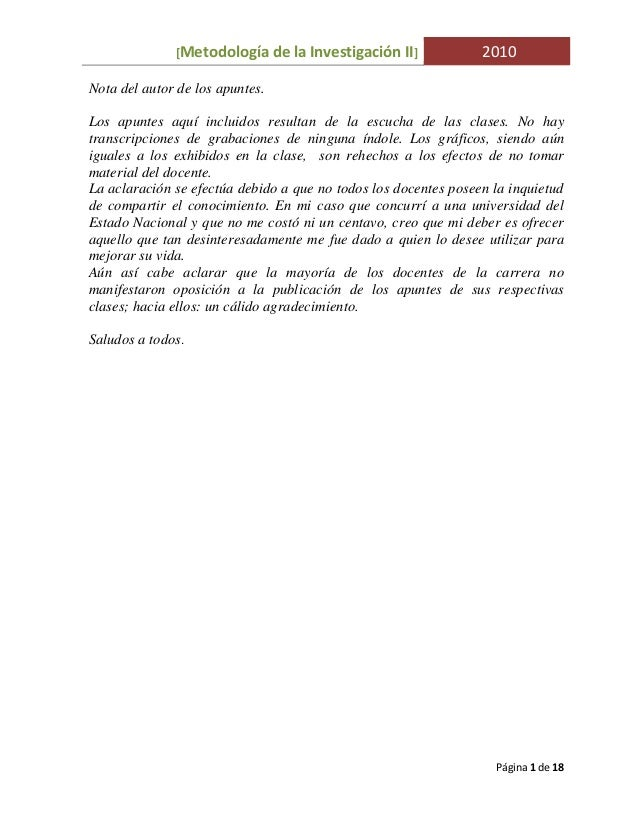 Metodología de la Investigación II UNLaM Mgr.I.Tuñon