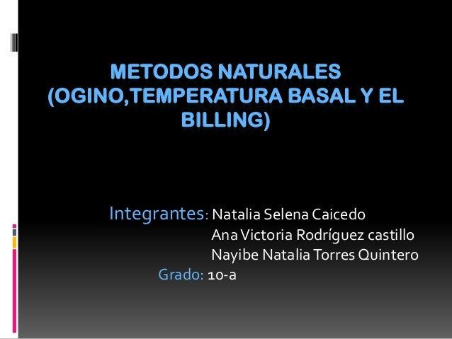 Metodos naturales anticonceptivos