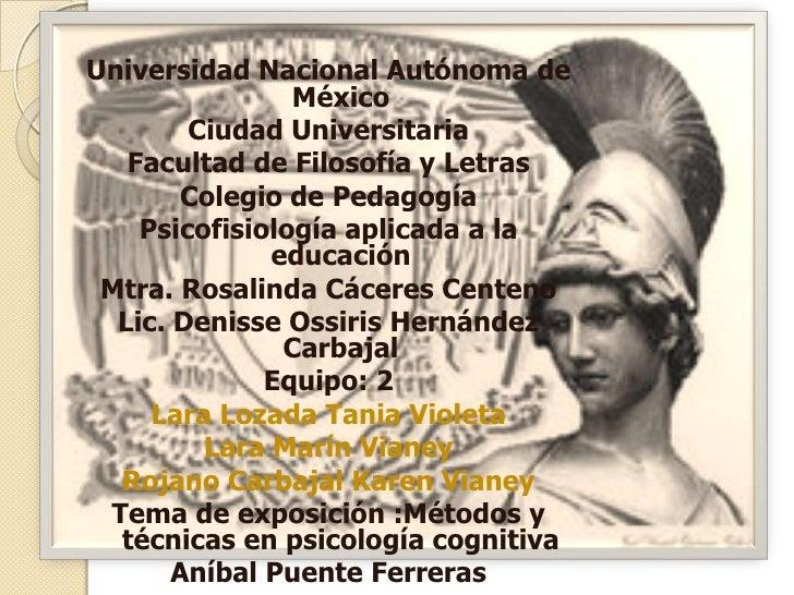 Metodos y tecnicas en psicologia cog