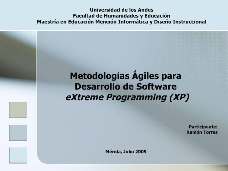 Metología Agiles Desarrollo Software (XP)