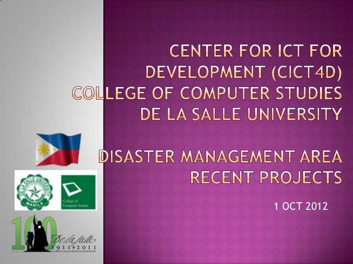 1 OCT 2012