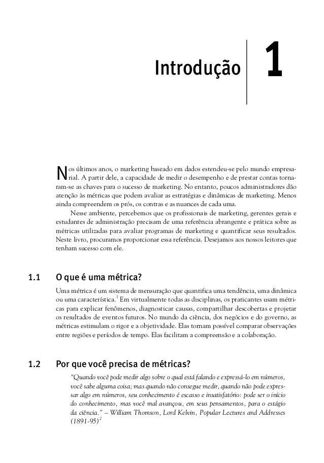Metricas de Marketing - Capitulo 1 - Introdução - Paul Ferris