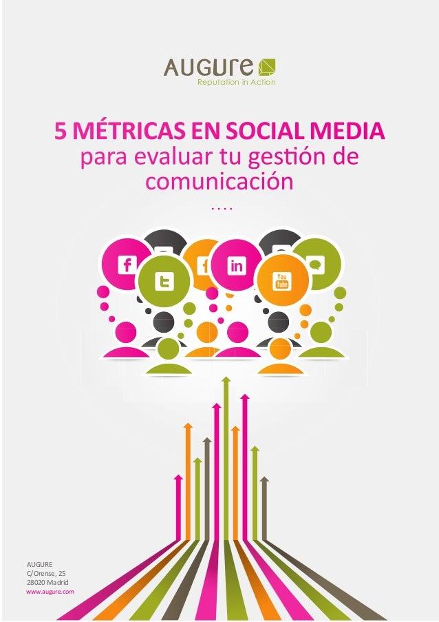 Reputation in ActionReputation in Action 5 MÉTRICAS EN SOCIAL MEDIA para evaluar tu gestión de comunicación www.augure.com...