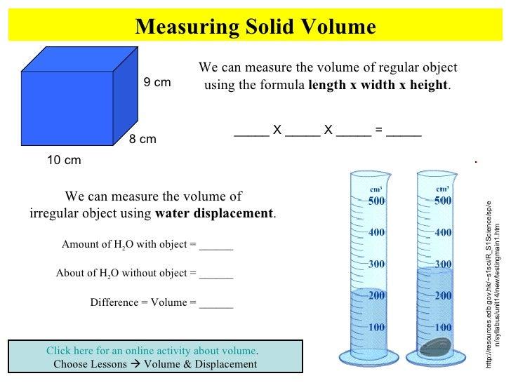 Volume Displacement Worksheet Photos Beatlesblogcarnival – Water Displacement Worksheet