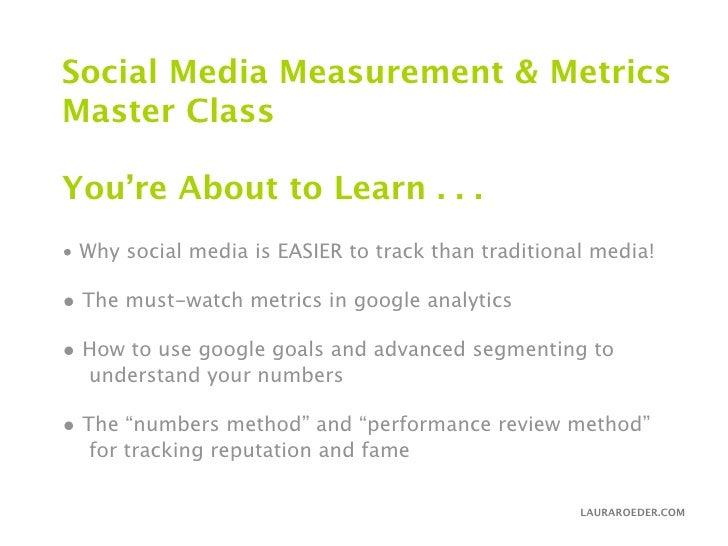 Social Media Measurement & Metrics