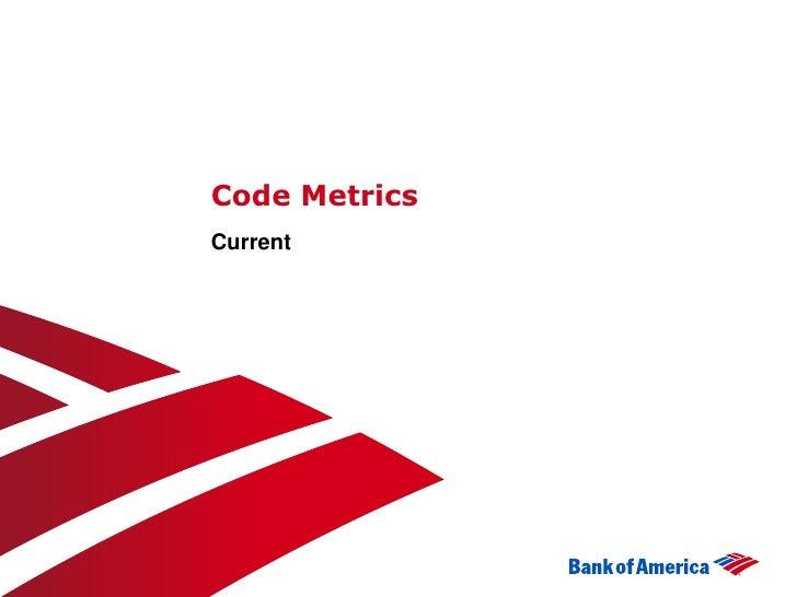 Code MetricsCurrent