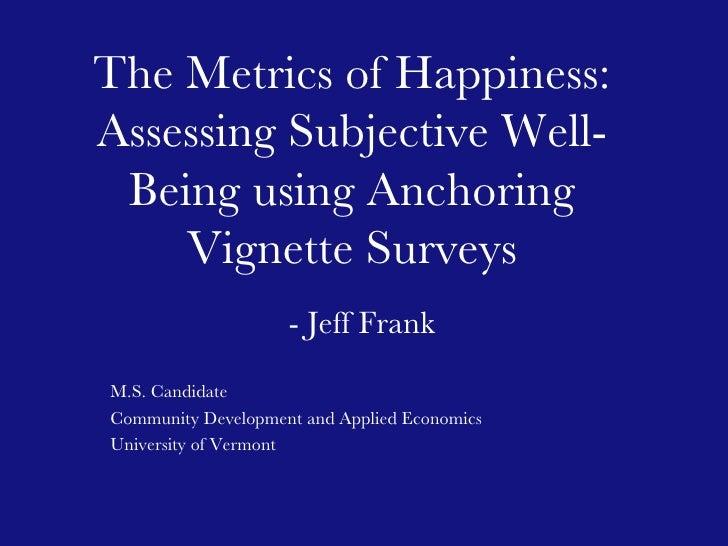 Metrics Of Happiness