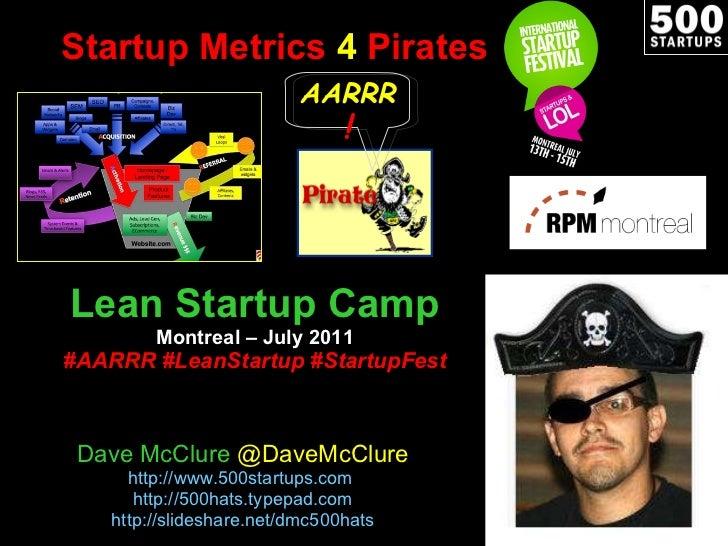 Startup Metrics 4 Pirates (July 2011)