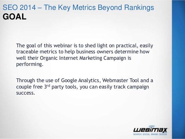 Seo 2014 – The Key Metrics