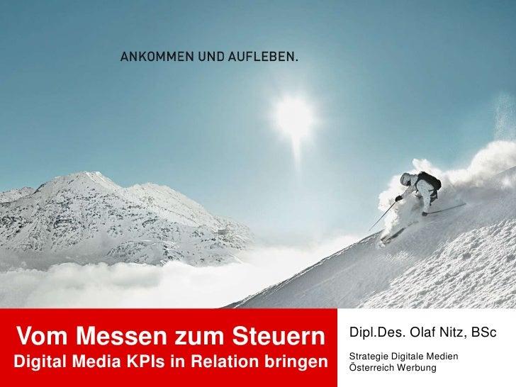 Dipl.Des. Olaf Nitz, BScVom Messen zum Steuern                                         Strategie Digitale MedienDigital Me...