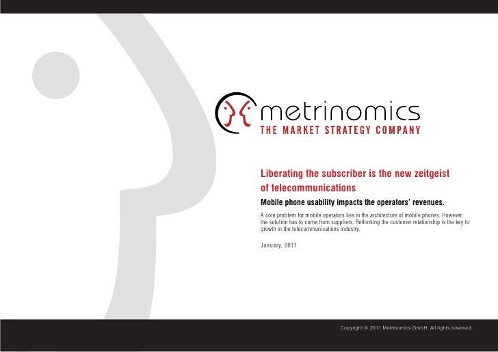 Metrinomics Global Consumer Survey 2010 - Mobile Market