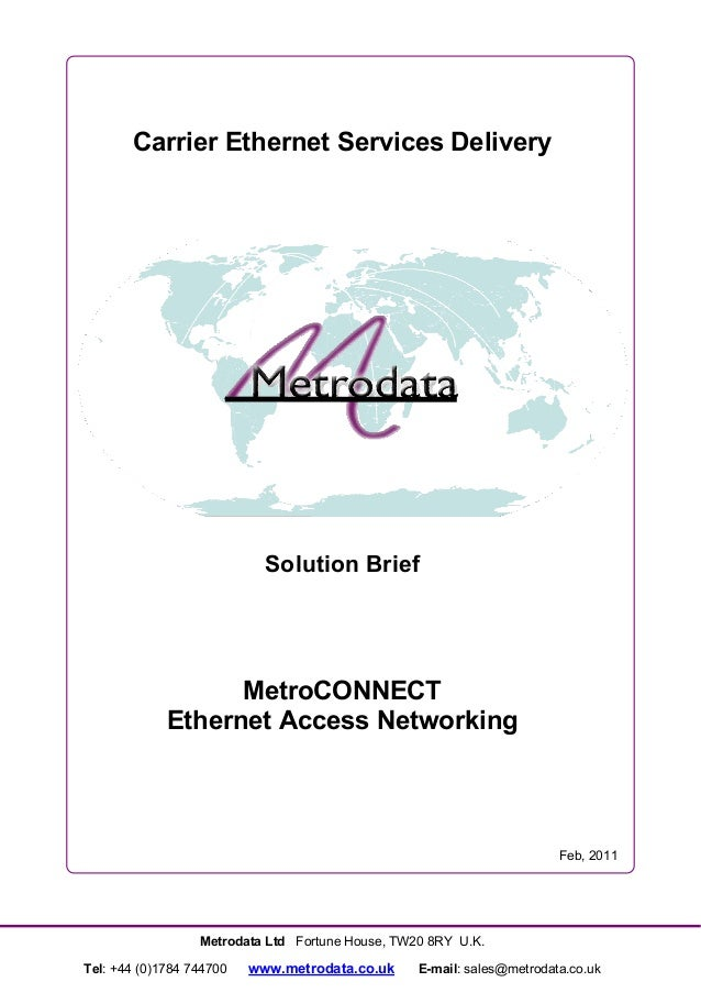 MetroCONNECT: Ethernet Access Networking