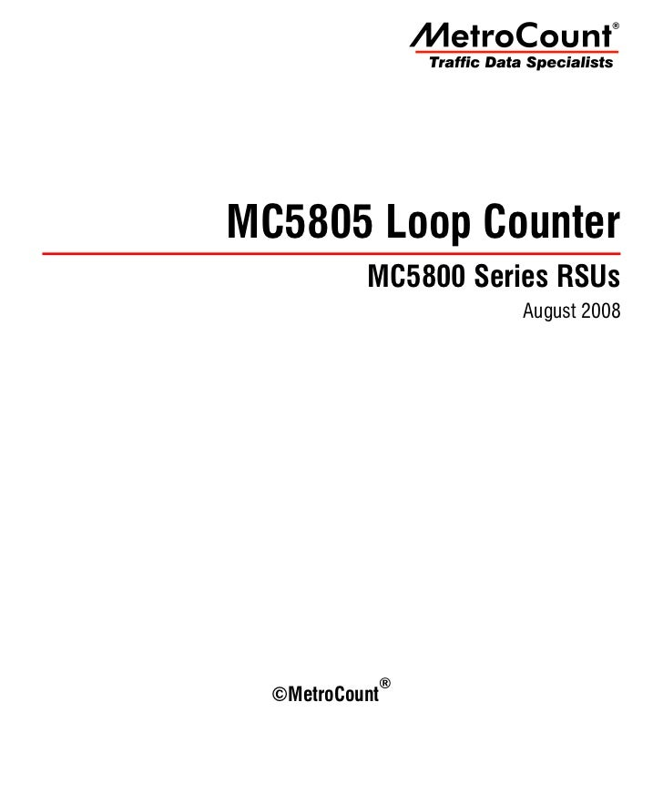 The MetroCount 5805 RSU is a four input, binned vehicle counter, utilising inductive loops as the            vehicle senso...