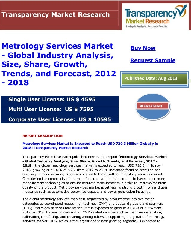 Metrology Services Market - Global Industry Analysis, Size, Share, Growth, Trends, and Forecast, 2012 - 2018