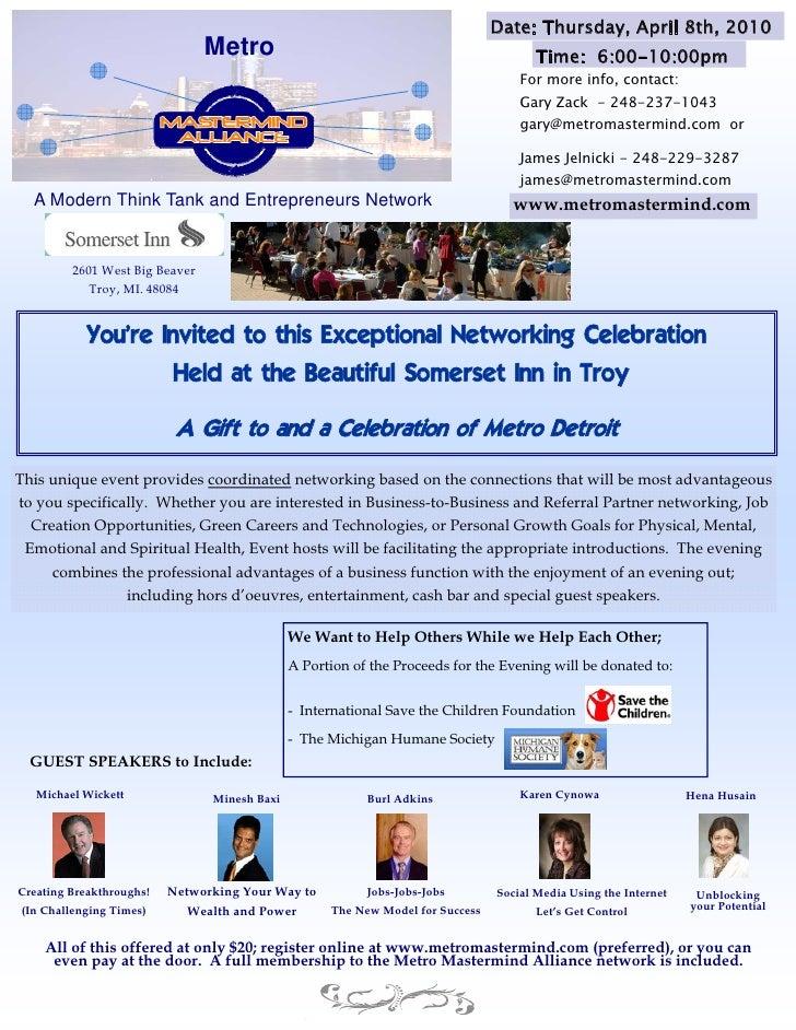 Date: Thursday, April 8th, 2010                                 Metro                                                  Tim...