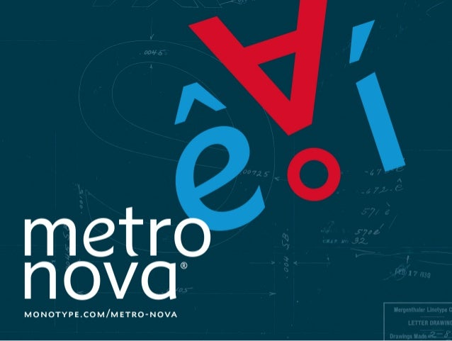 Metro Nova Typeface by Toshi Omagari