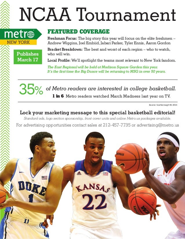 NCAA Tournament Featured Coverage New York  Publishes March 17  Freshman Focus: The big story this year will focus on the ...