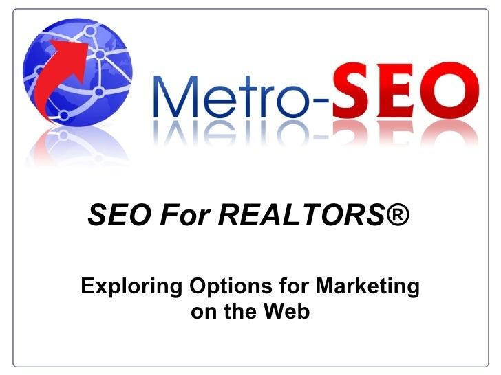 Metro-SEO | Web Presence for Realtors