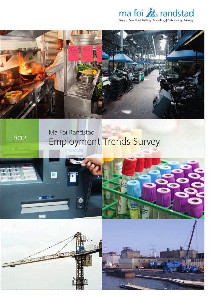 Employment Trends Survey 2012