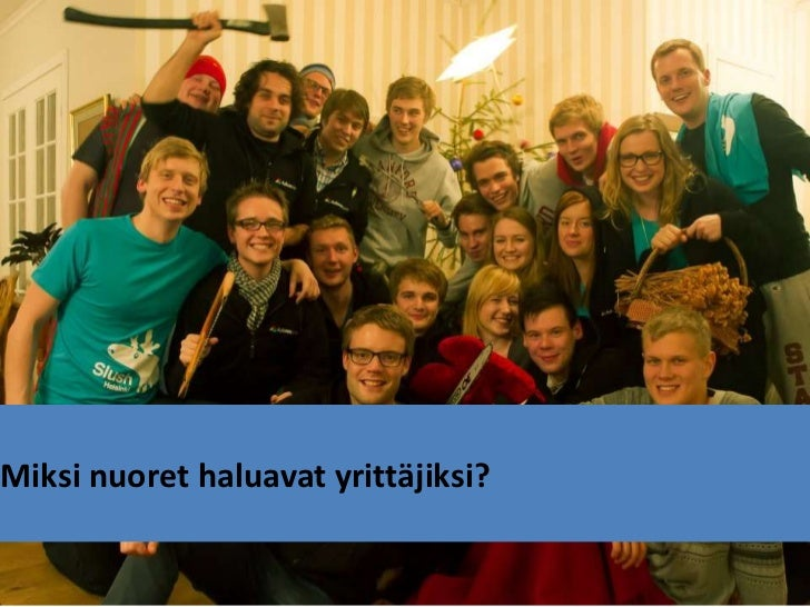 Entrepreneurship among students (In Finnish)